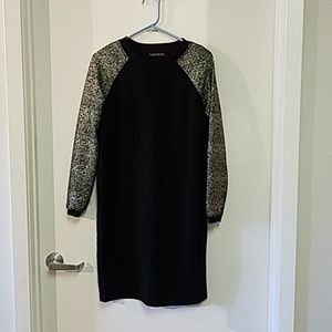 Long sleeve black dress with sparkle sleeves